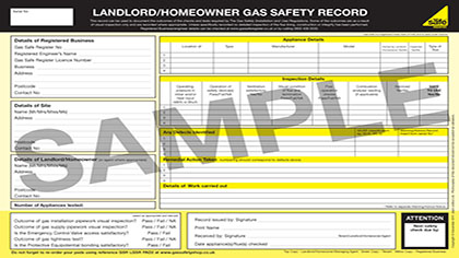 gas safety landslords certificate aberdeen